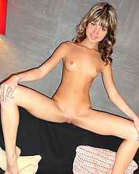 PetiteLover Petite brunette spreading her legs wide open