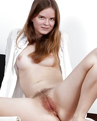 Hairy Denisma looks innocent in her white outfit